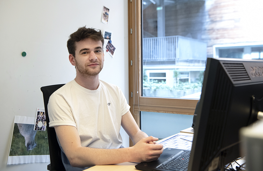 Thomas Michel, étudiant en Master SYVIC